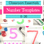 Numbers 0-20 Templates