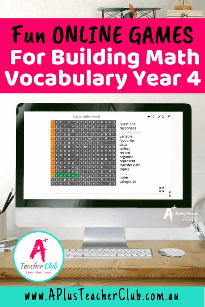 Year 4 Math Vocabulary Games {Online Learning Fun}
