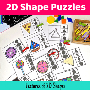 Fun 2d Shapes Puzzles For Teaching Features Of Shapes