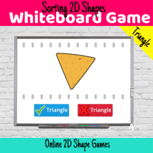 2D Shapes Games Sorting Triangles