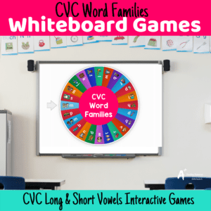 CVC Word Families Interactive Whiteboard Games
