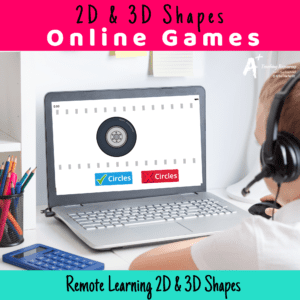 2D and 3D Shapes Games {Remote Learning}